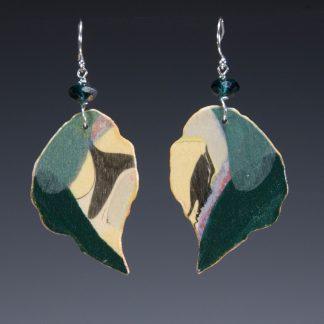 Reversible Marbled Birch Earrings side-a