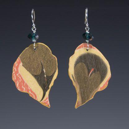 Reversible Marbled Birch Earrings side-b