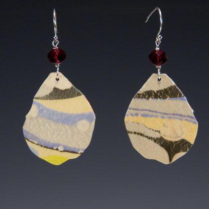 Marbled Birch Earrings sideb