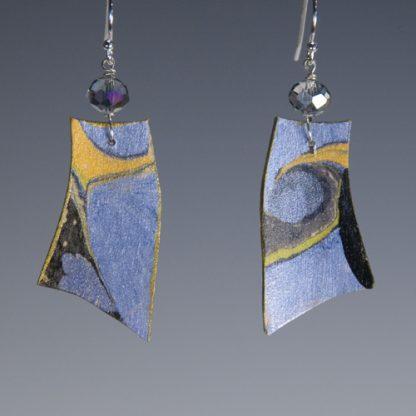 Sholeh Regna reversible marbled birch earrings, side_b