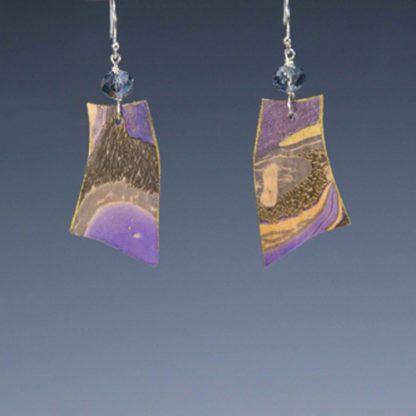 Sholeh Regna reversible marbled birch earrings, side_a
