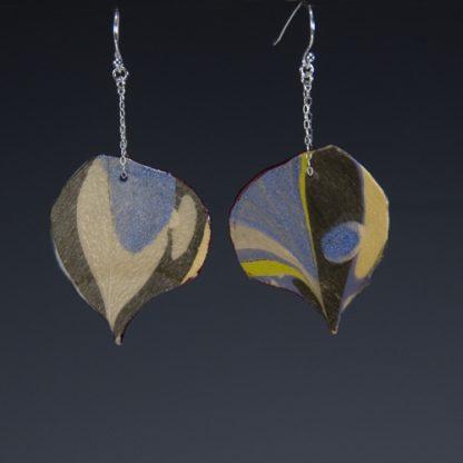 Reversible Marbled Birch Earrings sideb