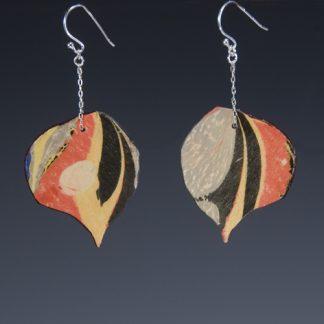 Reversible Marbled Birch Earrings sidea