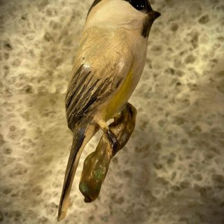 Black-Capped Chickadee, Ceramic Sculpture