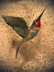 Hummingbird, Ceramic Sculpture