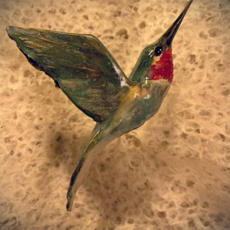 Hummingbird, Ceramic Sculpture
