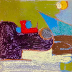 Abstract Painting, Oil Pastel on Paper