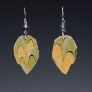 Reversible Marbled Birch Earrings