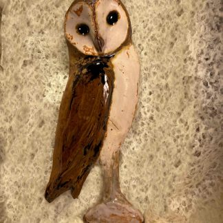 Ceramic owl, relief sculpture