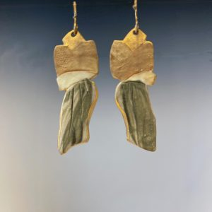 back of porcelain earrings pe-2