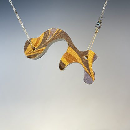 Reversible Marbled Necklace