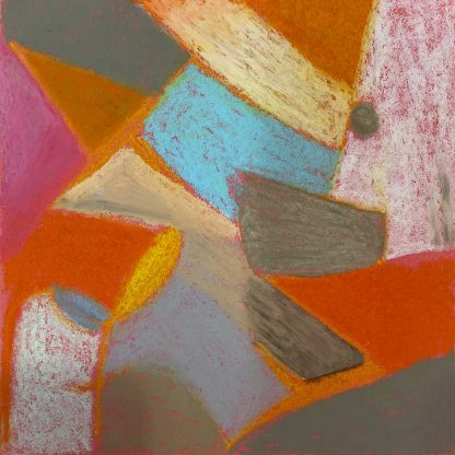 Original Abstract Painting, oil pastels on paper