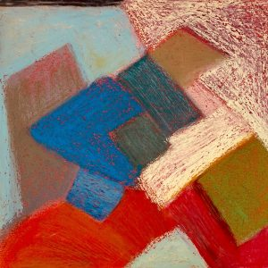 Abstract Painting, oil Pastel on paper #30