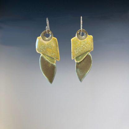 Porcelain dangle earrings