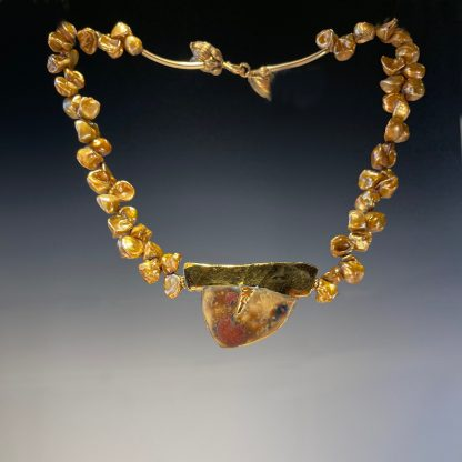 Porcelain Necklace with gold FWP