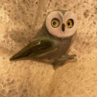 Saw Whet Owl, Ceramic